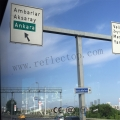 High Intensity MicroPrismatic reflective film for road signs