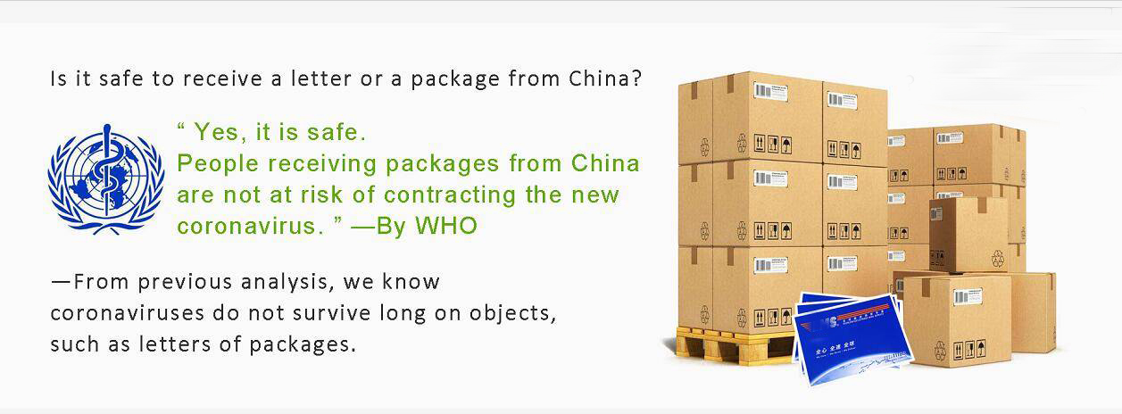 Is it safe to  receive a letter or a package from China?
